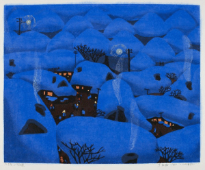 fravery:   Night in a Small Village, 1984 by Yu Chengyou, Chinese  : fravery:   Night in a Small Village, 1984 by Yu Chengyou, Chinese