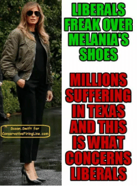 Suffering, Swift, and Com: FREAK OVER  MELANIA'S  SUFFERING  AND THIS  CONCERNS  Susan.Swift for  ConservativeFiringLine. com Liberal lunacy!