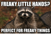meme.com: FREAKY LITTLE HANDS?  PERFECT FOR FREAKY THINGS  quick meme com