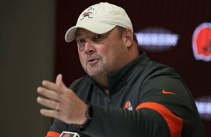 Freddie Kitchens looks like the guy who takes a bite out of a cookie, realizes it's actually a dog biscuit, then shrugs and takes another bite. https://t.co/AE6e0Cu9NC: Freddie Kitchens looks like the guy who takes a bite out of a cookie, realizes it's actually a dog biscuit, then shrugs and takes another bite. https://t.co/AE6e0Cu9NC