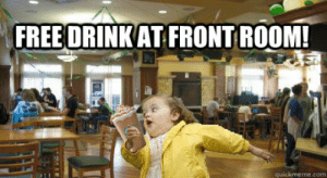 Free, Girl, and Com: FREE DRINKAT FRONT ROOM!  quickmeme.com Free drink at Front Room! - Chubby Bubbles Girl At Front Room ...