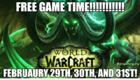 Memes, 🤖, and War: FREE GAME TIME!!!!!!!!!!!  WORLD  WAR  edvsgaming org  FEBRUAURY 29TH 30TH AND 31ST! Don't miss out on your opportunity this week!  - Katalyst  Join our Community Group of gamers meet new friends here: https://www.facebook.com/groups/DVSGaming/