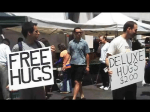 Dank, Memes, and Target: FREE  HUGS  DELUXE  HUGS  $2.00 Meirl by Samrojas0 FOLLOW HERE 4 MORE MEMES.