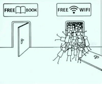 Memes, Free, and Wifi: FREE-OBOOKI FREE WIFI RT @TheKnowledge: Modern Society.... https://t.co/Dvxp0W7IZQ
