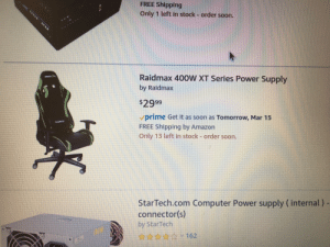 free shipplng only 1 left in stock order soon raidmax 400w xt series power supply by raldmax. Black Bedroom Furniture Sets. Home Design Ideas