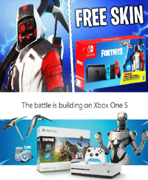 FREE SKIN FORTNITE LE the Battle Is Building on Xbox One S 2000 So