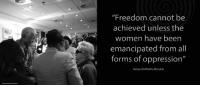 """""""Freedom cannot be achieved unless the women have been emancipated from all forms of oppression."""" ~ Nelson Mandela during his first State of the Nation Address, Parliament, Cape Town, South Africa, 24 May 1994 #LivingTheLegacy #MadibaRemembered #InternationalWomensDay #WomensDay #IWD2017   www.nelsonmandela.org www.mandeladay.com archive.nelsonmandela.org: """"Freedom cannot be  achieved unless the  women have been  emancipated from all  forms of oppression""""  Nelson Rolihlahla Mandela """"Freedom cannot be achieved unless the women have been emancipated from all forms of oppression."""" ~ Nelson Mandela during his first State of the Nation Address, Parliament, Cape Town, South Africa, 24 May 1994 #LivingTheLegacy #MadibaRemembered #InternationalWomensDay #WomensDay #IWD2017   www.nelsonmandela.org www.mandeladay.com archive.nelsonmandela.org"""