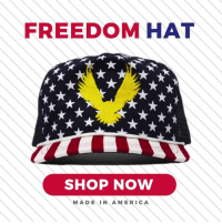 Show your American spirit with our exclusive Freedom Hat! Use code REMEMBER for 25% off before it's too late! https://bit.ly/2GRsgOC: FREEDOM HAT  SHOP NOW  MADEIN AMERICA Show your American spirit with our exclusive Freedom Hat! Use code REMEMBER for 25% off before it's too late! https://bit.ly/2GRsgOC
