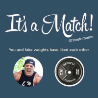 Fake, Memes, and 🤖: @freetomeme  You and fake weights have liked each other  ARBELL  ענ  KE  ク38Hdg 😅😅😅😅😅