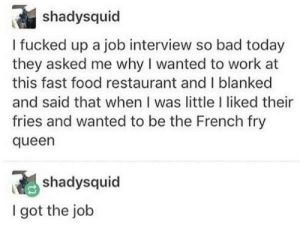 French Fry Queen: French Fry Queen