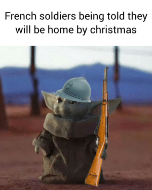 Fixed version. The last one had the wrong weapon: French soldiers being told they  will be home by christmas Fixed version. The last one had the wrong weapon
