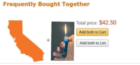 """Fire, Memes, and California: Frequently Bought Together  Total price: $42.50  Add both to Cart  Add both to List <p>Are California forest fire memes worth investing in? via /r/MemeEconomy <a href=""""http://ift.tt/2yLeVI7"""">http://ift.tt/2yLeVI7</a></p>"""