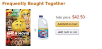 "Emoji, Memes, and Http: Frequently Bought Together  Total price: $42.50  Add both to Cart  Add both to List  EMOJI MOVIECLO  beyond words  JULY 28 <p>Are ""Frequently Bought Together"" Memes worth investing in? via /r/MemeEconomy <a href=""http://ift.tt/2kRS33s"">http://ift.tt/2kRS33s</a></p>"