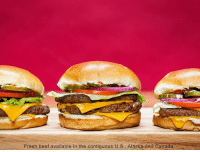Beef, Beef, and Dank: Fresh beef available in the contiguous U s Alaska and Canada  e Single? Double? Triple? No matter which one you pick, you'll get fresh, never frozen beef in all of our cheeseburgers.