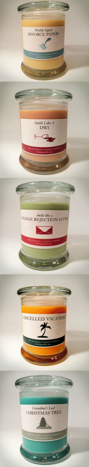 Christmas, Lol, and Target: Freshly Signed  DIVORCE PAPERS  FLI  CKING CANDLE COMPANY  lickingcandles.com   Smells Like A  DWI  THE  FLICKING CANDLE CO  flickingcandles.com  COMPAN   smells like a  LEJTION LETTE  THE FLICKING CANDLE COMP  flickingcandles.com   NCELLED VACATION  THE FLICKING CANDLE  Jlickingcandles.com   Grandma's Last  CHRISTMAS TREE  THE  FLICKING CANDLE COMPANY  ckingcandles.com princeburrito:  The Flicking Candle Companylol clever clever clever use of name AND font.
