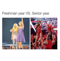 I love nicki: Freshman year VS. Senior year I love nicki