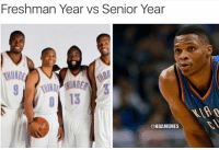 Freshman Year Vs Senior Year: Freshman Year vs Senior Year  @NBA MEMES