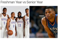 The difference a few years can make.: Freshman Year vs Senior Year  NBAMEMES The difference a few years can make.