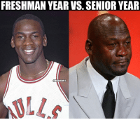 The difference.: FRESHMAN YEAR VS. SENIOR YEAR  NBRAMEMES The difference.