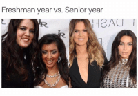 Freshman Year Vs Senior Year: Freshman year vs. Senior year  R.