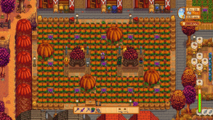 Just wanted to show my pumpkin farm :) on PS4 using the new zoom out function.: Fri. 19  8:20 am  2083776  BOBORIO Just wanted to show my pumpkin farm :) on PS4 using the new zoom out function.