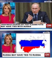 Putin: Friday  Moscow  ANONYMOUS SOURCES SAY THAT VLADIMIR PUTIN  MAY HAVE TIES WITH RUSSIA  230 PM CET  Friday  Moscow  BREAKING NEWS  LIVE  RUSSIA MAY HAVE TIES TO RUSSIA  230 PM CET