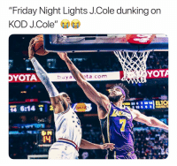 "This is dope 😂🙌 (Via ‪LakeShowYo‬-Twitter): ""Friday Night Lights J.Cole dunking on  KOD J.Cole  YOTA  YOT  4 This is dope 😂🙌 (Via ‪LakeShowYo‬-Twitter)"