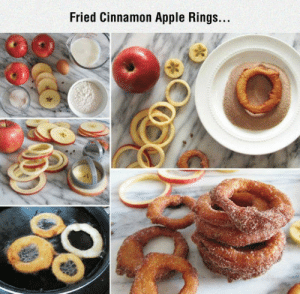 srsfunny:Complete Deliciousness: Fried Cinnamon Apple Rings... srsfunny:Complete Deliciousness
