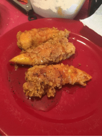 Chicken, Honey, and Pepper: Fried up some lemon pepper honey chicken tenders for lunch