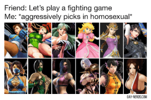 Where is Nina from Tekken !! : Friend: Let's play a fighting game  Me: *aggressively picks in homosexual*  GAY-NERDS.COM Where is Nina from Tekken !!