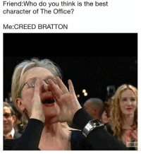 Af, Black Friday, and Friday: Friend:Who do you think is the best  character of The Office?  Me:CREED BRATTON  SAGA black friday giveaway 1 now live on our site! go read about it on our IG story shop ➵ theoffice.af 🎅🏻🎄❄️