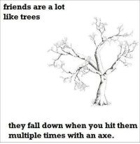 Anti-Jokes Are The Best Jokes ~bS: friends are a lot  like trees  they fall down when you hit them  multiple times with an axe Anti-Jokes Are The Best Jokes ~bS