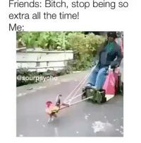 Memes, 🤖, and Extras: Friends: Bitch, stop being so  extra all the time!  Me  @sour psych Noted. (@sourpsycho)