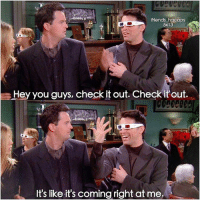 hey you guys: friends hqcaps  5x13  Hey you guys, check it out. Check it out.  It's like it's coming right at me.