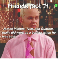 Please follow my backup account @friends.comedys ✨ thefriendomstickstogether: Friends react  James Michael Tyler aka Gunther  really did work as a barista when he  was cast Please follow my backup account @friends.comedys ✨ thefriendomstickstogether