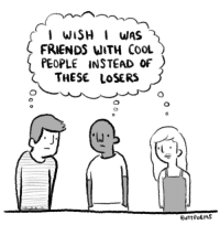 "Friends, Omg, and Tumblr: FRIENDS uITH CooL  PEOPLE iNSTEAD OF  THESE LOSERS <p><a href=""https://omg-images.tumblr.com/post/161347186727/me-too-man"" class=""tumblr_blog"">omg-images</a>:</p>  <blockquote><p>me too man</p></blockquote>"