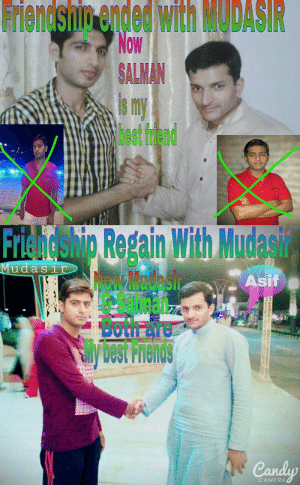 Best Friend, Friends, and Gif: Friendshig  ended  with  MODAS  SALMAN  6 Im  best friend  iti   Friendship Regain With Mudasi  Salman  best Friends  udaS1  Asif  a Proth are  CAMERA residentevil2remake: