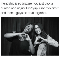 """Soooo true. Loving how Beaches showcases how special bffs can be in life. Be sure to catch the world premiere of @lifetimetv's BeachesMovie tonight at 8-7c! spon: friendship is so bizzare, you just pick a  human and ur just like """"yup! i like this one!""""  and then u guys do stuff together Soooo true. Loving how Beaches showcases how special bffs can be in life. Be sure to catch the world premiere of @lifetimetv's BeachesMovie tonight at 8-7c! spon"""