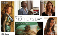 Happy Mother's Day from the MCU!: FRIGG  @MCU Tweets  SG  ANG  HAPPY  MOTHER'S DAY  MEREDITH QUILL  LAUR Happy Mother's Day from the MCU!