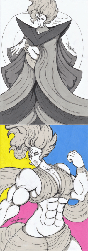 friskyhellspawn:  SO this is my White Diamond.. I swear if she isn't buff in canon I will throw all the chairsBut like jokes aside, I felt like a buff White would be pretty cool to try out, and I gotta admit.. I really like this.. she always gave me a chisled goddess vibe honestly. SO I went STRAIGHT for that: friskyhellspawn:  SO this is my White Diamond.. I swear if she isn't buff in canon I will throw all the chairsBut like jokes aside, I felt like a buff White would be pretty cool to try out, and I gotta admit.. I really like this.. she always gave me a chisled goddess vibe honestly. SO I went STRAIGHT for that