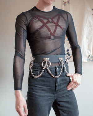frogcommunism:I would not wear this in public unless it was to a club but enjoying my stylistic choices indoors.  That's an aesthetic I can fucks with: frogcommunism:I would not wear this in public unless it was to a club but enjoying my stylistic choices indoors.  That's an aesthetic I can fucks with