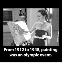 Memes, Paint, and Olympics: From 1912 to 1948, painting  was an olympic event.