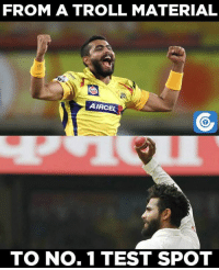 Memes, 🤖, and Trolls: FROM A TROLL MATERIAL  AIRCEL  TO No. 1 TEST SPOT Ravindra Jadeja is now the No. 1 bowler in Tests.