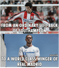 Birthday, Football, and Gareth Bale: FROM AN ORDINARY LEFT-BACK  OF SOUTHAMPTON  R E A L  t Trollfootball  #IBRAHEM  TO A WORLD  OE  REAL MADRID From and ordinary left-back to a world class player! Happy Birthday Gareth Bale 🎉  Like Troll Football For More   #IBRAHIM