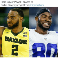 Rico Gathers reportedly eventually wants to be the successor to future hall of famer Jason Witten when he hangs the cleats up. Crazy but let's make it happen 💪 RicoGathers: From Baylor Power Forward to  Dallas Cowboys Tight End  #RicoGathers  TAYLOR  Gad OWBO Rico Gathers reportedly eventually wants to be the successor to future hall of famer Jason Witten when he hangs the cleats up. Crazy but let's make it happen 💪 RicoGathers