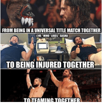 Seems that since Finn has come to the main roster he's done everything with Rollins 😂. wwe wwememe wwememes sethrollins theshield romanreigns finnbalor balorclub demonking universalchampion wrestler wrestling tripleh shawnmichaels prowrestling professionalwrestling wrestlingmemes wrestlemania worldwrestlingentertainment wweuniverse wwenetwork wwesuperstars raw wweraw mondaynightraw smackdown smackdownlive nxt sdlive: FROM BEING IN AUNIVERSALTITLE MATCH TOGETHER  @HE WHO LIKES SASHA  TOBEINGINJUREDTOGETHER  TaTFAMINOHATIn HFTHER Seems that since Finn has come to the main roster he's done everything with Rollins 😂. wwe wwememe wwememes sethrollins theshield romanreigns finnbalor balorclub demonking universalchampion wrestler wrestling tripleh shawnmichaels prowrestling professionalwrestling wrestlingmemes wrestlemania worldwrestlingentertainment wweuniverse wwenetwork wwesuperstars raw wweraw mondaynightraw smackdown smackdownlive nxt sdlive