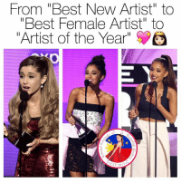 "Ariana Grande, m.facebook, and m.facebook.com: From ""Best New Artist"" to  ""Best Female Artist"" to  Artist of the Year""  ST 2013 Share if you're proud 😍  Get Free Ariana Grande Lockscreens here ❤️: https://m.facebook.com/AGBLockscreens?ref=bookmarks  —ag༄"