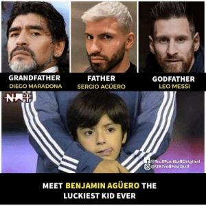 """From Grandpa telling you how he single handedly won a World Cup🏆 to your Godfather showing you his 6 Ballon d'Or🐐 and your Dad describing to you the """"Aguerooooo""""⚽  What a life😌💕 https://t.co/2uvYO9nRay: From Grandpa telling you how he single handedly won a World Cup🏆 to your Godfather showing you his 6 Ballon d'Or🐐 and your Dad describing to you the """"Aguerooooo""""⚽  What a life😌💕 https://t.co/2uvYO9nRay"""