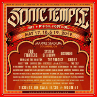 We are headlining Summer 2019's @sonictemplefestival in Columbus, OH. Tickets on sale this Friday at sonicmusicfestival.com.: FROM THE CREATOR OF LOUDER THAN LIFE, WELCOME TO ROCKVILLE &CO-CREATOR OF ROCK ON THE RANGE  1, 18  19, 204  MAPFRE STADIUM  COLUMBUS, OH C  SYSTEM DISTURBED  FIGHTERS OF A DOWN DISTURBED  BRING ME THE HORIZON THE PRODIGY GHOST  HALESTORM LAMB OF GOD CHEVELLE JOANJE LTHE CULT  IN THIS MOMENT THE HIVES GOJIRA THE DISTILLERS MESHUGGAH ACTION BRONSON THE STRUTS REFUSED  KILLSWITCH ENGAGE PARKWAY DRIVE BLACK LABEL SOCIETY BEARTOOTH SCARS ON BROADWAY ARCHITECTS TOM MORELLO AVATAR  PUSSY RIOT BAD WOLVES FEVER 333 MARK LANEGAN BAND BADFLOWER THE GLORIOUS SONS ISSUES YUNGBLUD HO9909 BLACK PISTOL FIRE  SCARLXRD ZEAL&ARDOR BASEMENT THE BLACK DAHLIÁ MURDER DON BROCO WAGE WAR HANDS LIKE HOUSES WHILE SHE SLEEPS PALAYE ROYALE MOVEMENTS  AMIGO THE DEVIL THE PLOT IN YOU BOSTON MANGR COUNTERFEIT DEMCB HAPPY TEENAGE WRIST THE PRETTY VICIOUS BLACK COFFEE SHVPES DIRTY HONEY NoICARES THE JACKS  smusws coweer & seoNEW WORD ENEANDREW BICE CLAY HENRY ROLLINS PAULY SHORE MORE TBA  TICKETS ON SALE I1/30 @ NOON ET We are headlining Summer 2019's @sonictemplefestival in Columbus, OH. Tickets on sale this Friday at sonicmusicfestival.com.