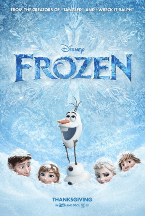 "Disney, Frozen, and Thanksgiving: FROM THE CREATORS OF ""TANGLED"" AND ""WRECK-IT RALPH""  DiSNEy  FROZEN  THANKSGIVING  IN 3D AND reALD 3D Frozen sucks"